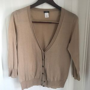 J Crew Woman's V -Neck Cotton Cardigan Size Small
